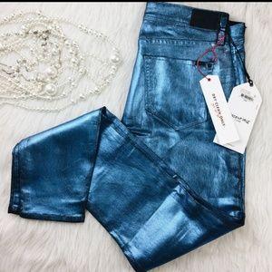 BOGO Sinclair Blue Romance metallic jeans pants